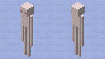 Benderman (Albino enderman) Minecraft Mob Skin