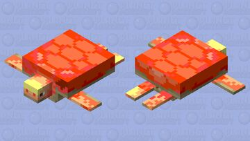 fire turtle Minecraft Mob Skin