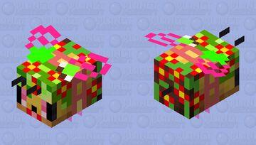 Bloom bee Minecraft Mob Skin