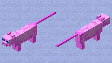 Pink Cat Minecraft Mob Skin