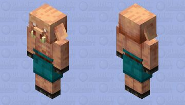 Better Piglin / Re-texturing / from Warped Forest Minecraft Mob Skin