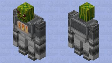 Golem Iron / of the group illager / re-texturing / Clean / without plants and a watermelon Minecraft Mob Skin