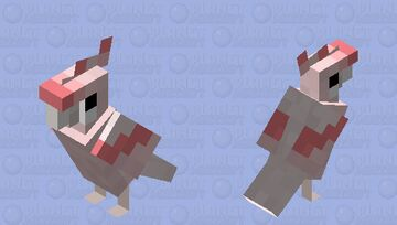 Leadbeater's Cockatoo Minecraft Mob Skin