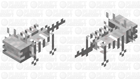 ajolote_esqueletico Minecraft Skin