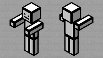 Stickman from Henry sticmin Minecraft Mob Skin