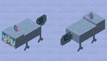 Shiny Sobble - Pokemon Axolotl Replacer Minecraft Mob Skin