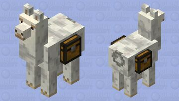 Gray llama2 Minecraft Mob Skin