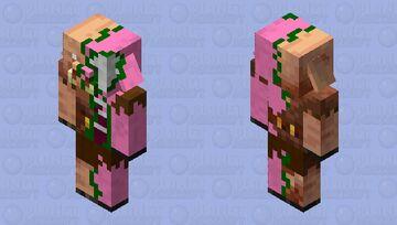 Half zombie Half piglin Minecraft Mob Skin