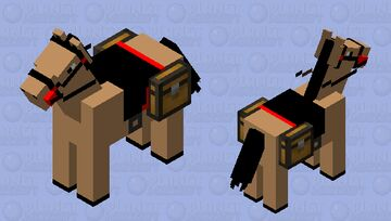 Nice Red Saddled Horse #3 Minecraft Mob Skin