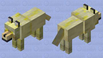 yelo wolve Minecraft Mob Skin