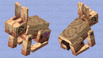 Wooden Rabbit Minecraft Mob Skin