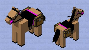 Nice Pink Saddled Horse #3 Minecraft Mob Skin