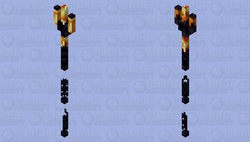 Minecraft texture pack - netherite trident / obsidian trident Minecraft Mob Skin