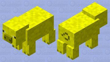 Yellow Pig Minecraft Mob Skin