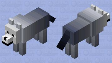 Reverse Fade Wolf Minecraft Mob Skin