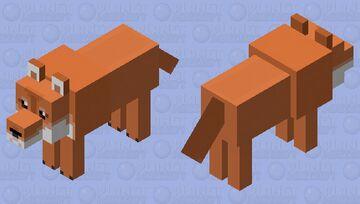 Orange Shiba Inu Dog (Doge) Minecraft Mob Skin