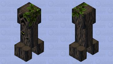 Realistic Oak Creeper Minecraft Mob Skin
