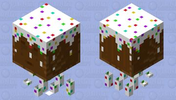 Chocolate Cake Ghast (Frosted) Minecraft Mob Skin