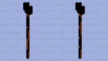 SIMPLE DARK MATTER LAVA TRIDENT Minecraft Mob Skin