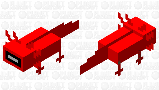 Amogus axolotol Minecraft Skin