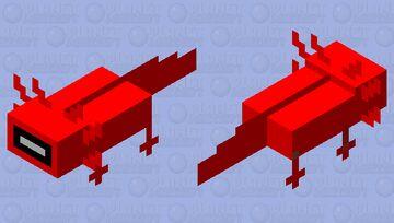 Amogus axolotol Minecraft Mob Skin