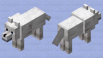 A snowy wolf Minecraft Mob Skin
