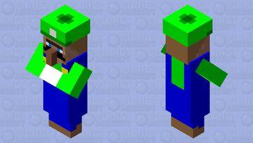 Luigi Villager Minecraft Mob Skin