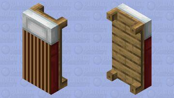 Brown Stripe Bed Minecraft Mob Skin