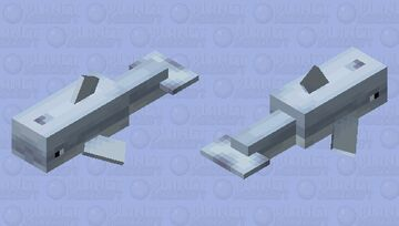 noseless dolphin (noseless edition) Minecraft Mob Skin