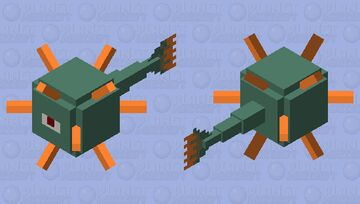 Simplified Guardian Minecraft Mob Skin