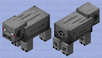 Agressive werepig in Nether Minecraft Mob Skin