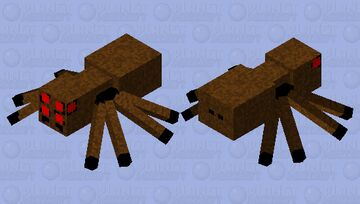 Spider Retextured HD Minecraft Mob Skin