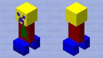 Colorful Creeper Minecraft Mob Skin