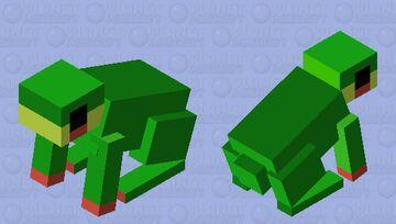 Rabbit to Frog V2 (Dark) Minecraft Mob Skin