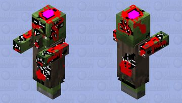 Zombie Villager with broken bones and a lot of ketchup Minecraft Mob Skin