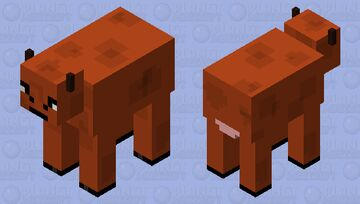 Red cow Minecraft Mob Skin