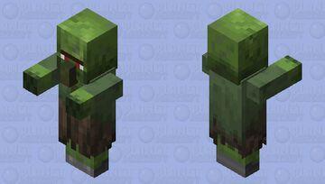 1.14 Nitwit Zombie Villager Minecraft Mob Skin