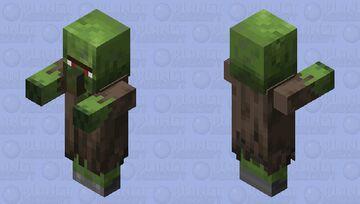 Neutral zombie villager Minecraft Mob Skin