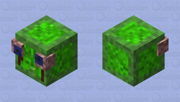 Spooky scary realistic creepy slime Minecraft Mob Skin