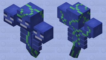 Aquatic Wither Minecraft Mob Skin