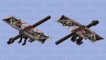 The disaster of abstract lines Minecraft Mob Skin