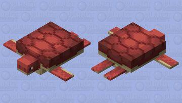 Nether / Red Turtle Minecraft Mob Skin