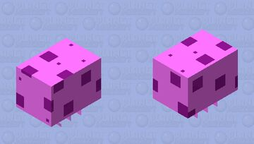 Spongebob's Jelly Fish(Aguá-Viva De Bob Esponja) Minecraft Mob Skin