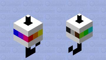 ranbow bobber Minecraft Mob Skin