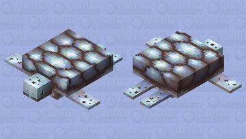 Silver turtle Minecraft Mob Skin