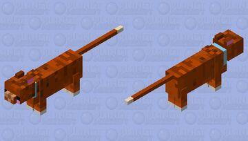 Kawaii Brown Cat Minecraft Mob Skin