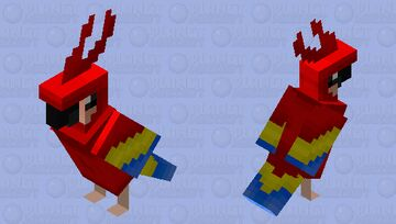 The Parrot (HD version) (Ver.2) Minecraft Mob Skin