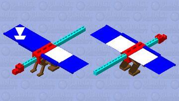 Elemental Dragon with glases Minecraft Mob Skin