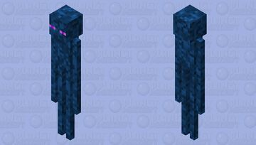 Blue enderman Minecraft Mob Skin