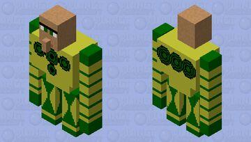 Mega King Villager BATTLE BOT Minecraft Mob Skin